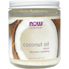 Now Coconut Oil. Natural / Кокосовое масло - 207 мл